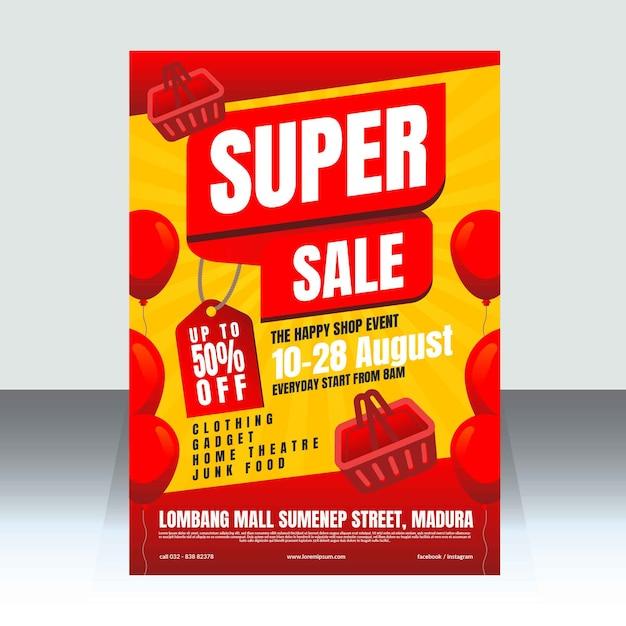 Szablon plakat super sprzedaż Premium Wektorów