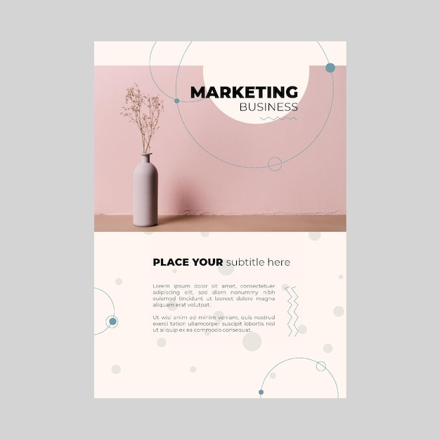 Szablon Plakatu Biznesowego Marketingu Darmowych Wektorów
