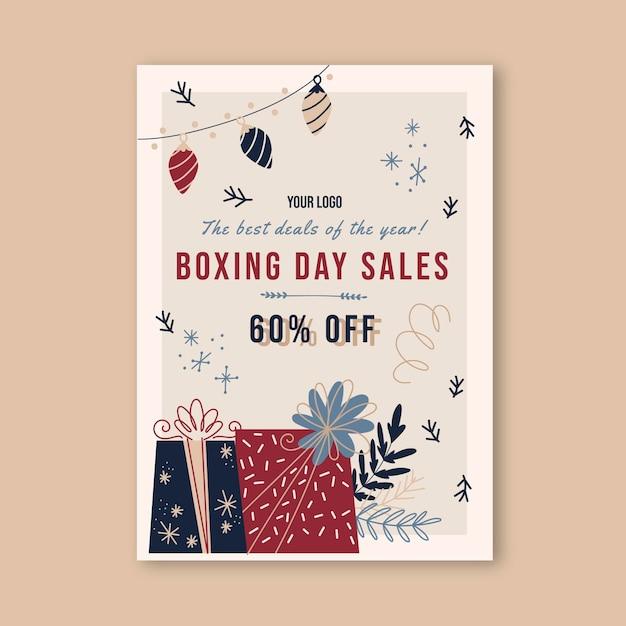 Szablon Plakatu Dzień świąt Bożego Narodzenia Premium Wektorów