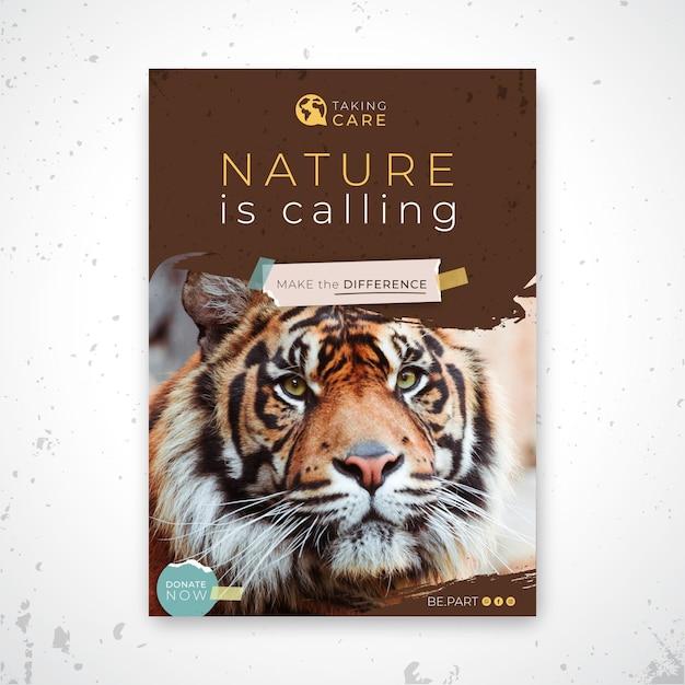 Szablon Plakatu Dzikiej Przyrody Darmowych Wektorów