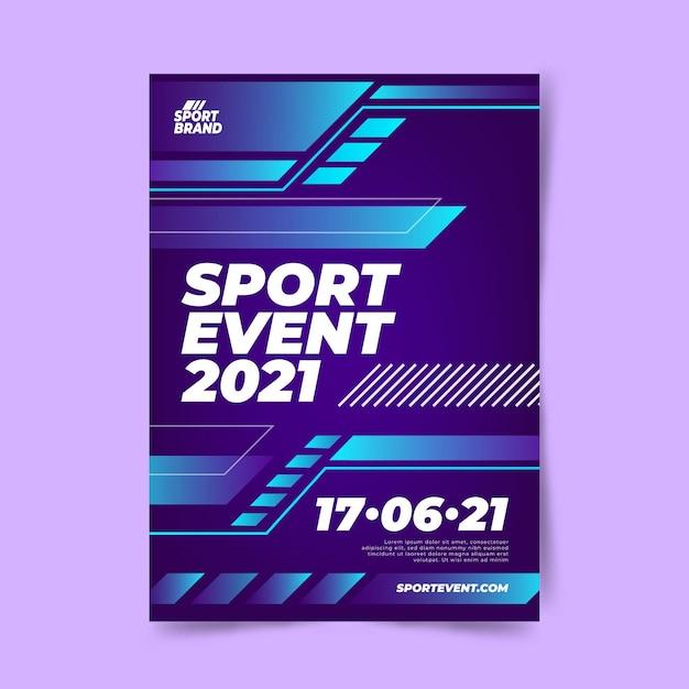 Szablon Plakatu Imprezy Sportowe Darmowych Wektorów
