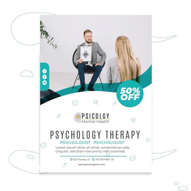 Szablon Plakatu Psychologii Darmowych Wektorów