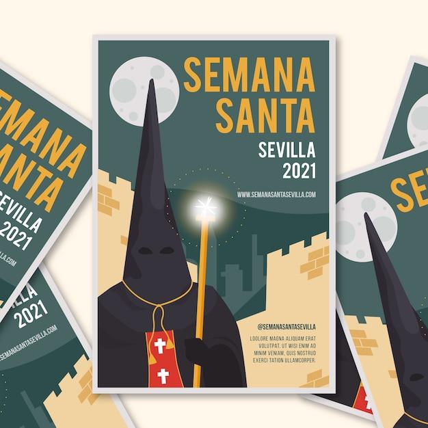 Szablon Plakatu Semana Santa Darmowych Wektorów
