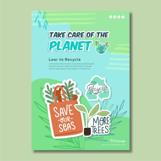 Szablon Plakatu środowiska Darmowych Wektorów
