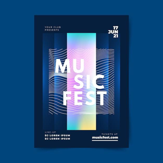 Szablon Plakatu Streszczenie Muzyki Darmowych Wektorów