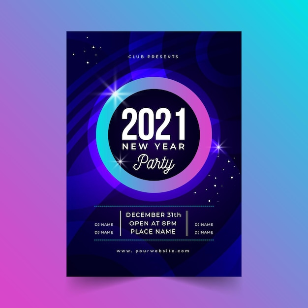 Szablon Plakatu Strony Streszczenie Nowy Rok 2021 Darmowych Wektorów