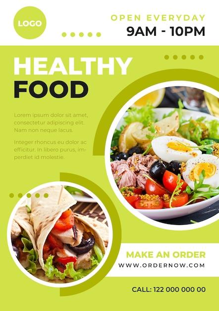 Szablon Plakatu Zdrowej żywności Darmowych Wektorów