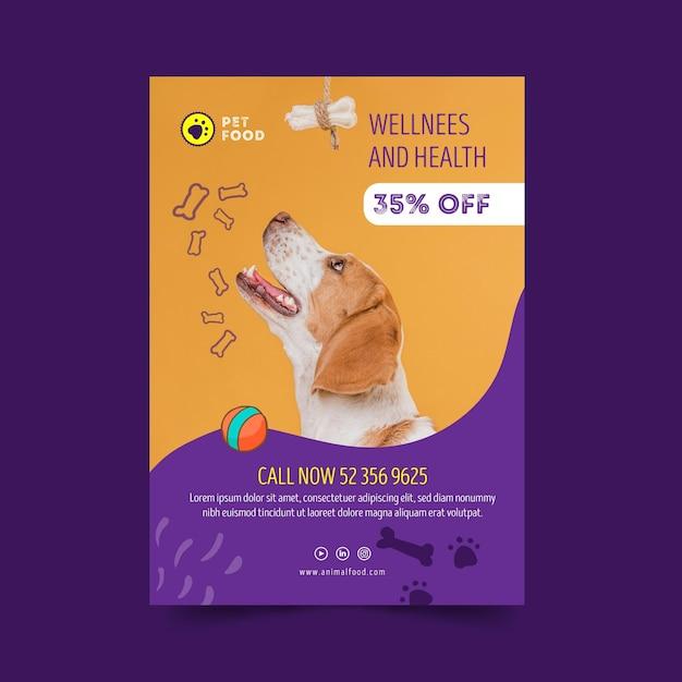 Szablon Plakatu żywności Dla Zwierząt Premium Wektorów