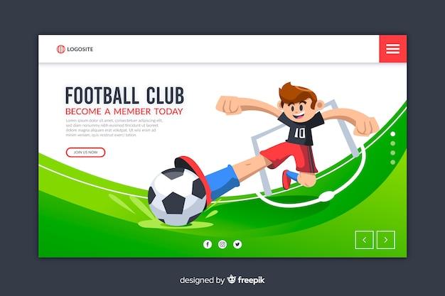 Szablon płaski projekt strony docelowej sportu Darmowych Wektorów