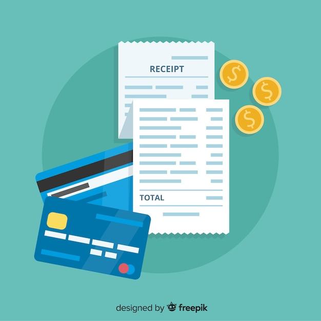 Szablon płatności płatności z płaska konstrukcja Darmowych Wektorów