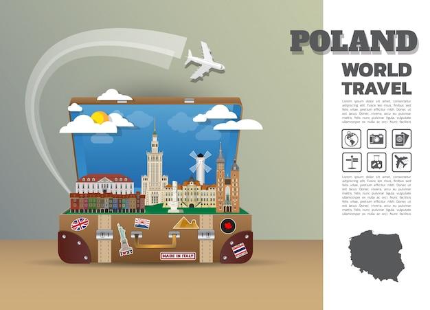 Szablon Polska Podróż Premium Wektorów
