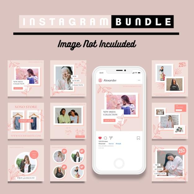 Szablon postu na kreatywne zniżki instagram Premium Wektorów