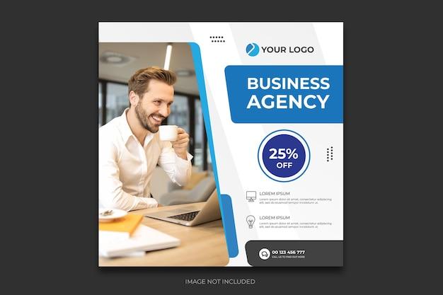 Szablon Postu W Mediach Społecznościowych Agencji Cyfrowej Premium Wektorów