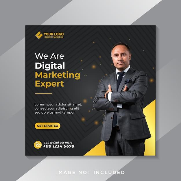 Szablon Postu W Mediach Społecznościowych Promocji Marketingu Cyfrowego Biznesu Premium Wektorów