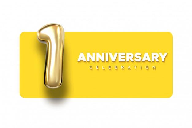 Szablon Powitania Karty Z Czarnym Tekstem Logo I Nadmuchiwanym Balonem. Premium Wektorów