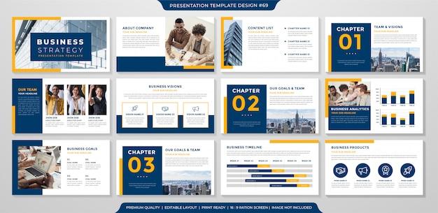 Szablon Prezentacji Biznesowej Premium Wektorów