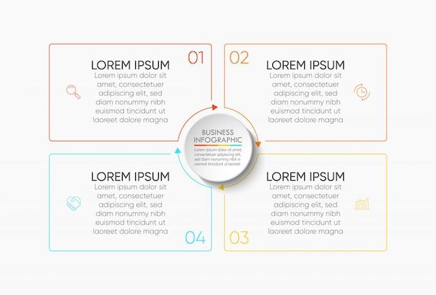 Szablon Prezentacji Biznesowych Infographic Premium Wektorów