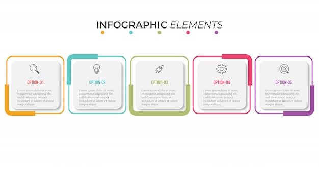Szablon Prezentacji Infographic Premium Wektorów