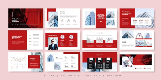 Szablon Prezentacji Minimalnych Slajdów Biznesowych Premium Wektorów