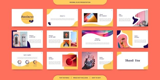 Szablon prezentacji minimalnych slajdów Premium Wektorów