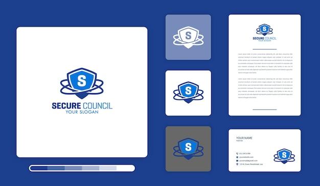 Szablon Projektu Bezpiecznego Logo Rady Premium Wektorów