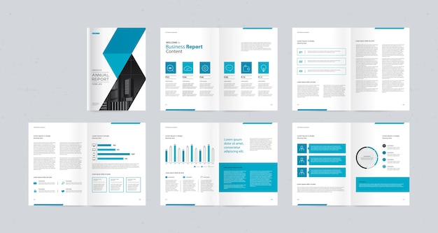 Szablon Projektu Broszury Biznesowej Premium Wektorów