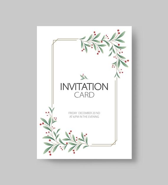 Szablon Projektu Karty Zaproszenie Na Przyjęcie świąteczne I Szczęśliwego Nowego Roku Premium Wektorów
