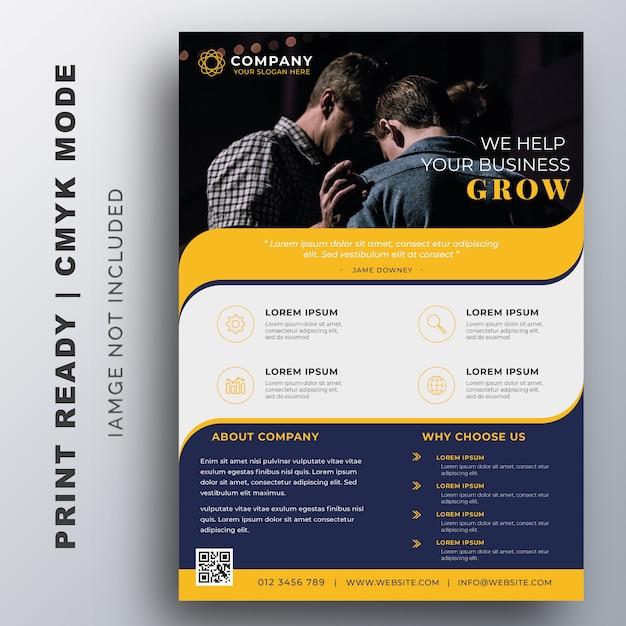 Szablon projektu kreatywnych ulotki firmowe Premium Wektorów