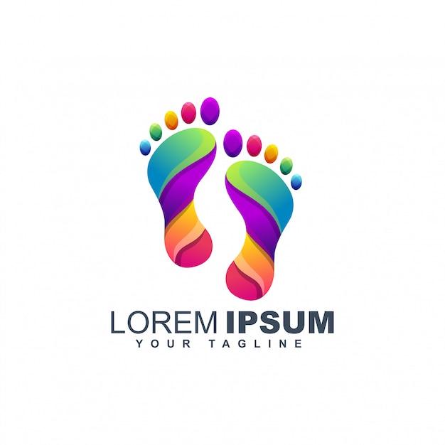 Szablon projektu logo kolorowe stopy Premium Wektorów