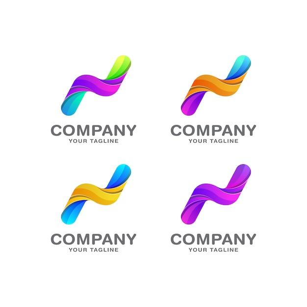 Szablon Projektu Logo Litery N. Premium Wektorów