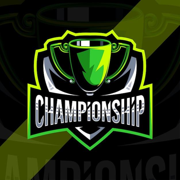 Szablon Projektu Logo Mistrzostw Premium Wektorów