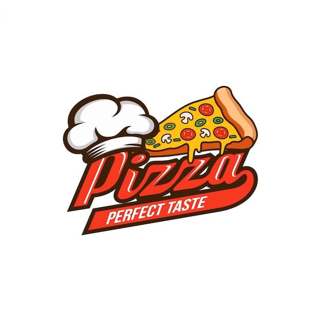 Szablon projektu logo pizzy Premium Wektorów