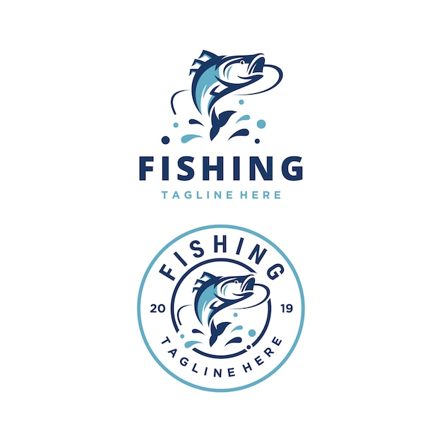 Szablon Projektu Logo Przygoda Wektor Połowów Premium Wektorów