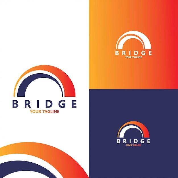 Szablon projektu logo streszczenie kreatywnych most Premium Wektorów