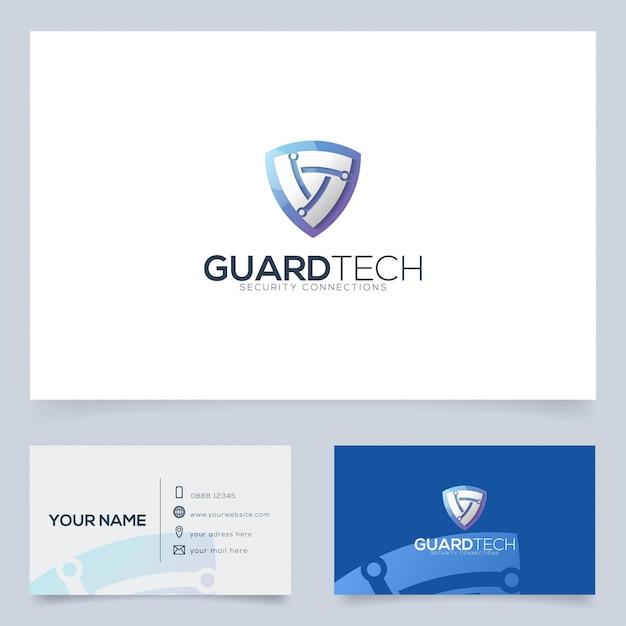 Szablon Projektu Logo Technologii Ochrony Dla Firmy Technologicznej I Nie Tylko Premium Wektorów