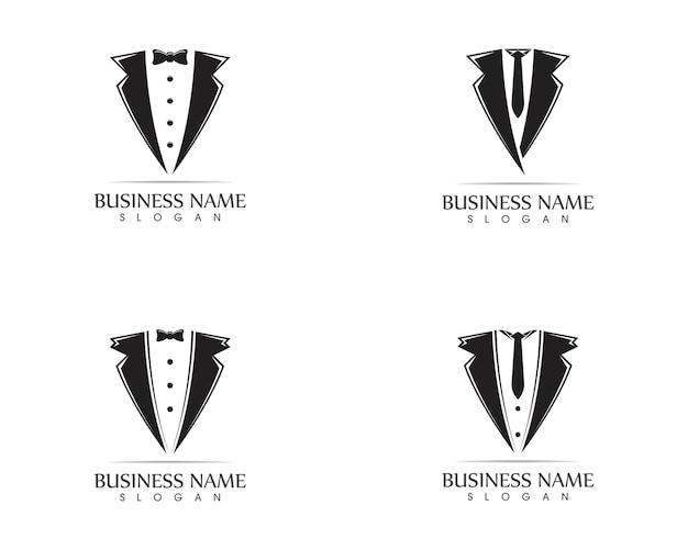 Szablon projektu logo tuxedo Premium Wektorów