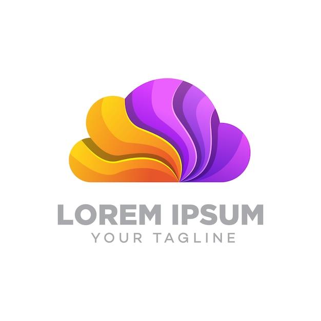Szablon Projektu Logo W Chmurze Premium Wektorów