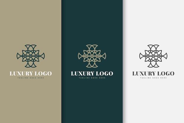 Szablon Projektu Logo Z Linią Premium Wektorów