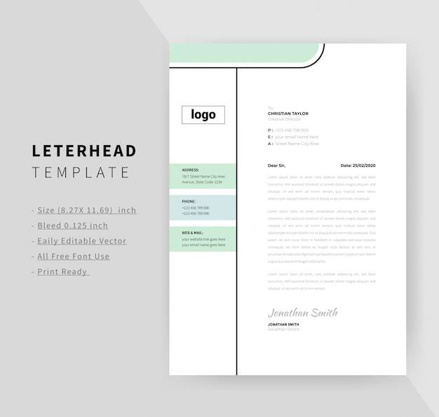 Szablon Projektu Minimalny Papier Firmowy Dla Biznesu Premium Wektorów