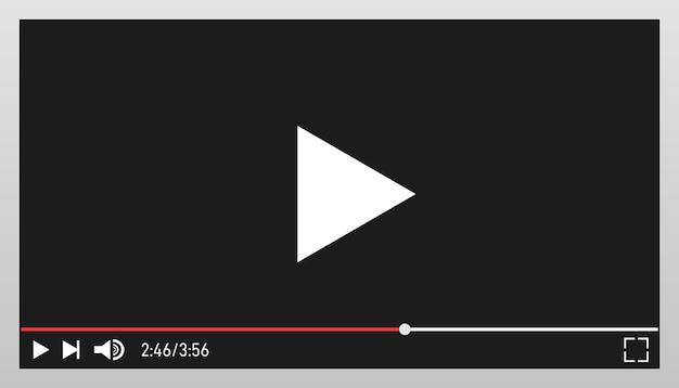 Szablon Projektu Nowoczesnego Odtwarzacza Wideo Dla Aplikacji Internetowych I Mobilnych. Premium Wektorów