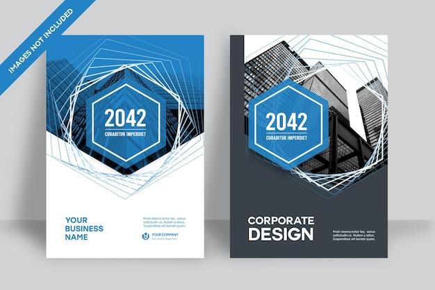 Szablon Projektu Okładki Książki Korporacyjnej Premium Wektorów