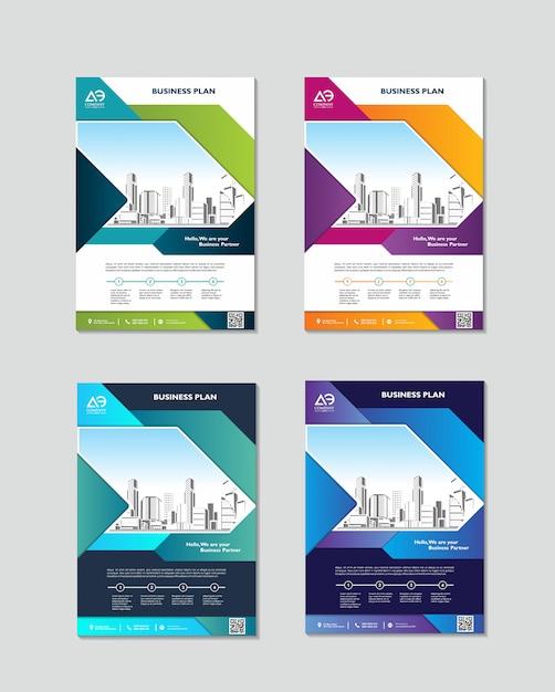 Szablon Projektu Okładki Książki W Formacie A4 łatwy Do Dostosowania Do Rocznego Raportu Broszury Premium Wektorów