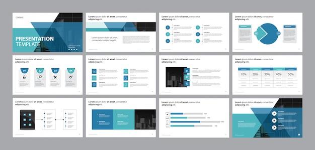 Szablon Projektu Prezentacji Biznesowych I Projekt Układu Strony Premium Wektorów