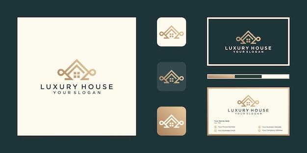 Szablon Projektu Profesjonalnego Logo Luksusowego Domu I Projekt Wizytówki Premium Wektorów