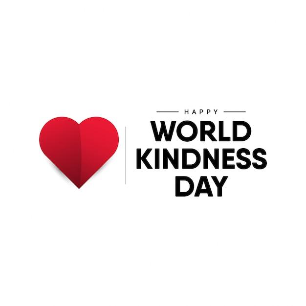 Szablon projektu światowego dnia życzliwości. Premium Wektorów