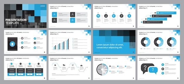 Szablon Projektu Układu Prezentacji Biznesowych Premium Wektorów