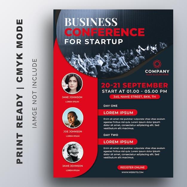 Szablon Projektu Ulotki Kreatywnych Biznesowych Konferencji Premium Wektorów