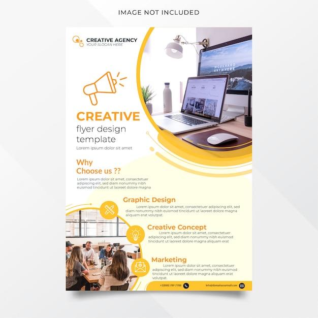 Szablon Projektu Ulotki Streszczenie Agencja Kreatywna Premium Wektorów