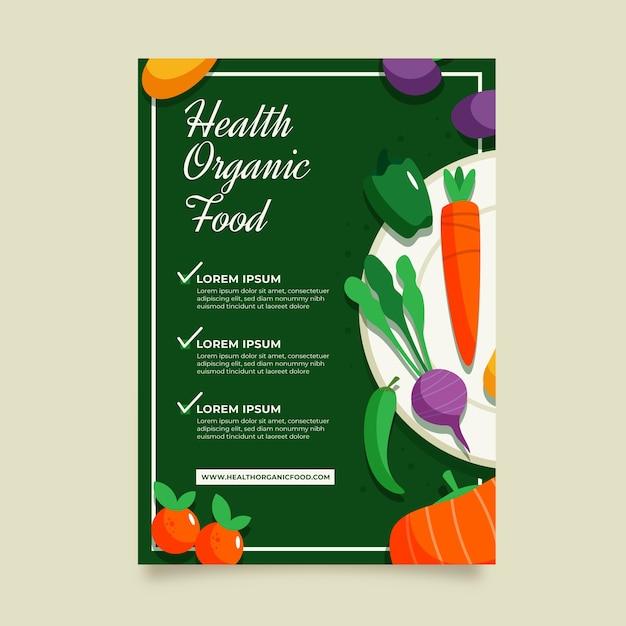 Szablon Projektu Ulotki Zdrowej żywności Darmowych Wektorów