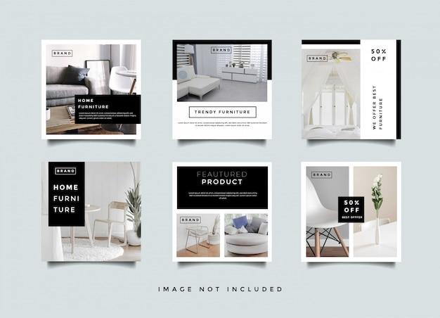Szablon Promocji Opowiadań Na Instagramie Wnętrza Domu Premium Wektorów
